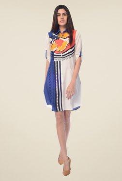 Desi Belle White Printed Dress