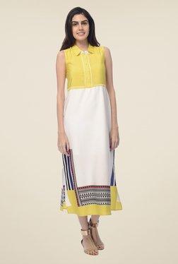 Desi Belle White Printed Dress - Mp000000000548721
