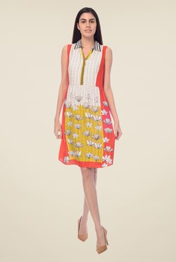 Desi Belle White Floral Print Dress - Mp000000000548732