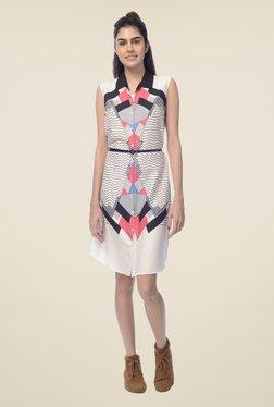 Desi Belle White Printed Dress - Mp000000000548735