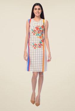 Desi Belle White Floral Print Dress