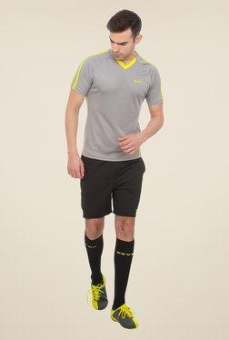 Zeven Grey Solid Football T-shirt