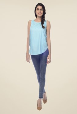 Desi Belle Blue Solid Top