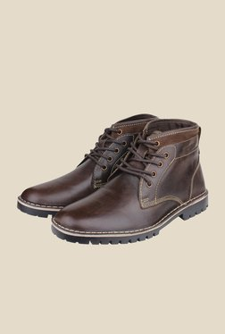 Red Tape Dark Brown Casual Boots