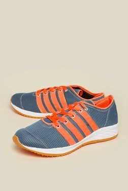 Zudio Teal Blue & Orange Lace Up Shoes