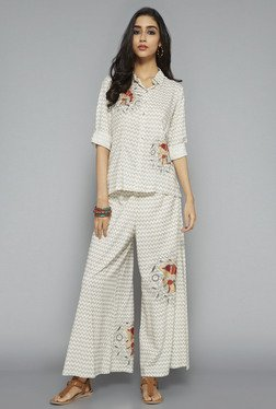 Bombay Paisley by Westside Off White Printed Palazzo