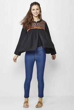 Global Desi Black Embroidered Jacket