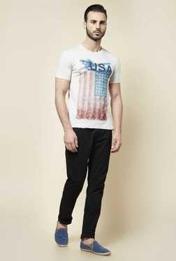 Zudio Grey Crew Neck Slim Fit T Shirt