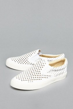 Head Over Heels By Westside White Laser-Cut Loafers