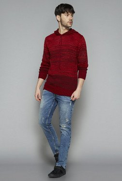 Nuon by Westside Red Slim Fit Sweater
