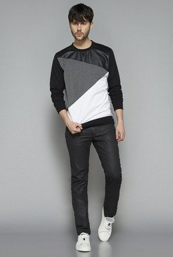 Nuon by Westside Black Slim Fit Pullover