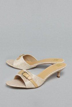 Head Over Heels By Westside Gold Kitten Heeled Sandals