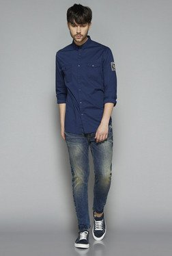 Nuon by Westside Indigo Slim Fit Shirt