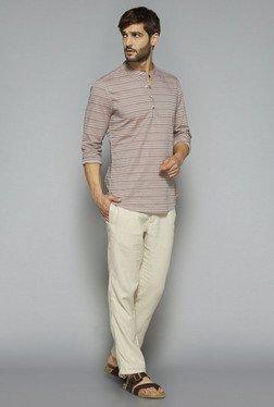 ETA By Westside Beige Slim Fit Shirt