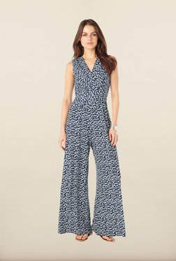 Phase Eight Navy Bette Printed Jumpsuit
