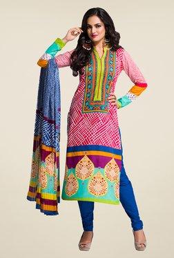 Salwar Studio Multicolor Printed Cotton Dress Material