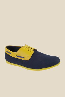 Series Navy & Yellow Boat Shoes