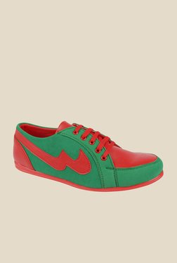 Series Green & Red Casual Shoes
