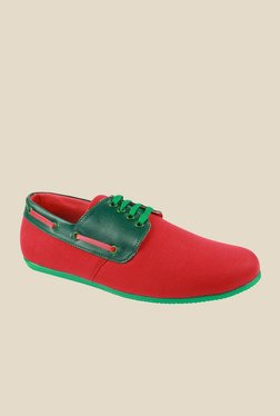 Series Red & Green Boat Shoes