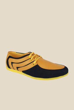 Series Yellow & Black Casual Shoes
