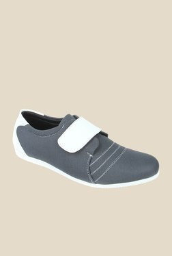 Series Grey & White Casual Slip-Ons