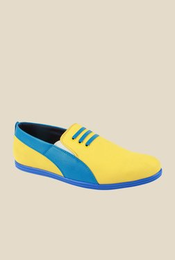 Series Yellow & Blue Casual Slip-Ons