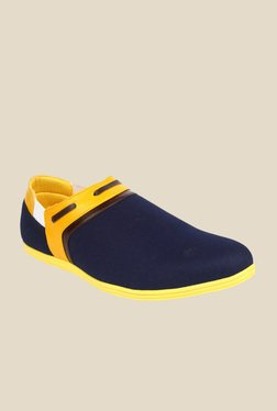 Series Navy & Yellow Plimsolls