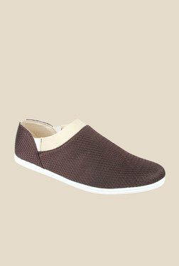 Series Brown & Cream Casual Slip-Ons