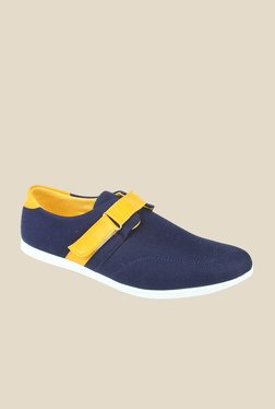 Series Navy & Yellow Casual Slip-Ons