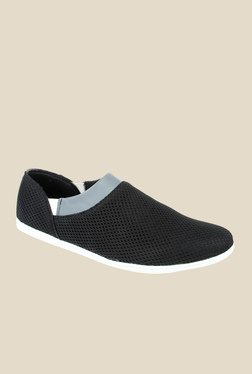 Series Black & Grey Casual Slip-Ons
