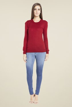 Globus Vibrant Red Solid Pullover