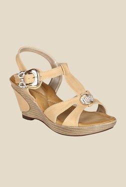 La Briza Beige Ankle Strap Wedges - Mp000000000555036