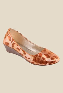 Kielz Orange Wedge Heeled Pumps