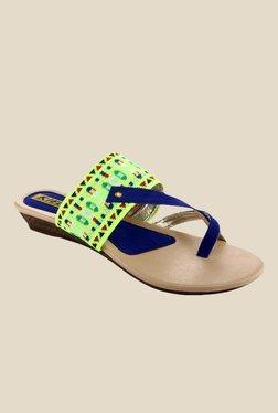 Kielz Blue & Green Wedge Heeled Sandals