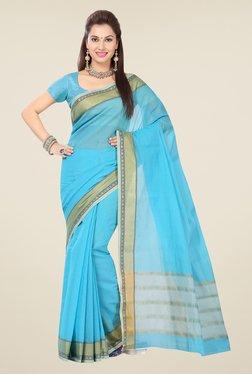Ishin Blue Cotton Saree