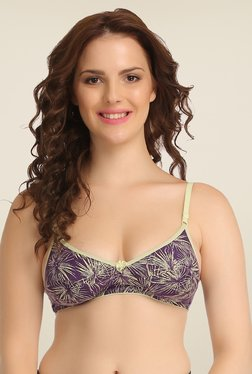 Clovia Purple Wirefree Full Cup Bra