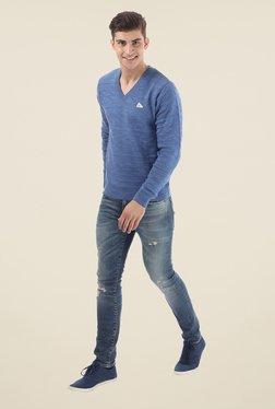 Monte Carlo Blue V Neck Pullover