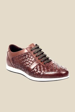 Pavers England Brown & White Casual Shoes