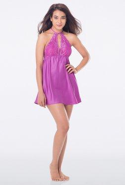 PrettySecrets Purple Solid Babydoll