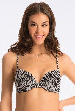PrettySecrets Black Zebra T Shirt Push Up Bra