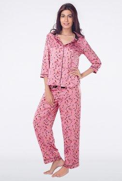 PrettySecrets Pink Printed Top & Pyjama Sets