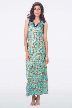 PrettySecrets Aqua Floral Print Nightdress