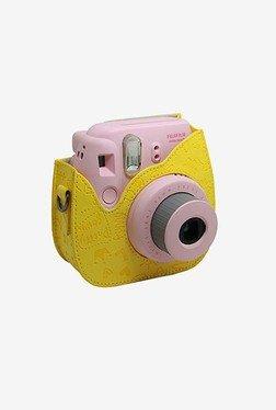 Woodmin PU Leather Mini Case For Fujifilm Mini 8 (Yellow)