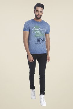 Jack & Jones Blue Short Sleeve Printed T-shirt