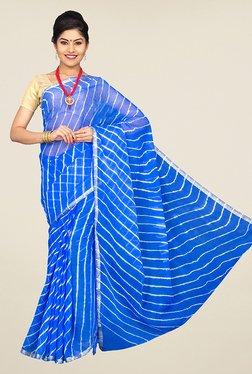 Pavecha's Blue Chiffon Zari Saree