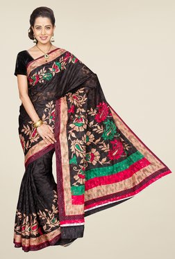 Pavecha's Black Mangalagiri Brasso Net Fashion Saree