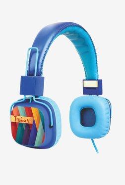 Amkette Trubeats 737BL On The Ear Headphones (Blue)