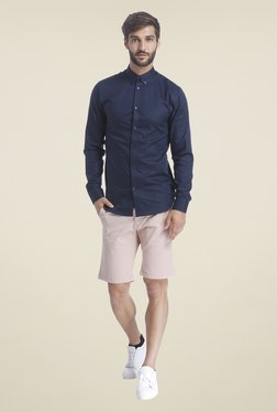 Selected Navy Solid Shirt