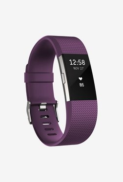 Fitbit Charge 2 Large Activity Wristband (Plum/Silver)