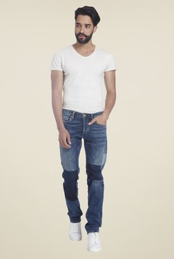 Jack & Jones Blue Lightly Washed Solid Jeans